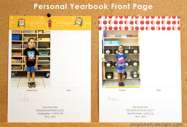 Personal Yearbook Pages - Front, August and September by Simply Kelly Designs #personalyearbooks #yearbooks #craftingwithkids #school