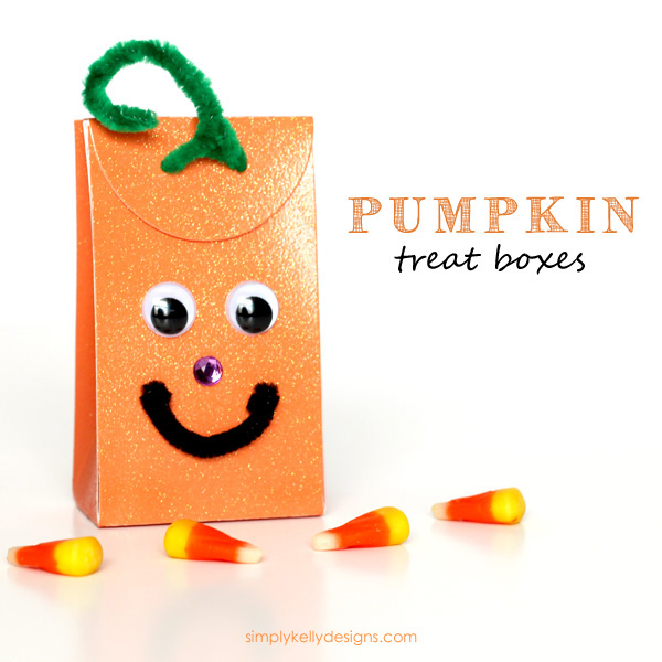 Pumpkin Treat Boxes by Simply Kelly Designs #Halloween