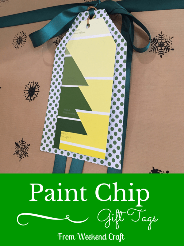 Paint Chip Gift Tags from Weekend Craft
