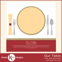 Our Table Digital Scrapbook Template by Simply Kelly Designs #digiscrap #template