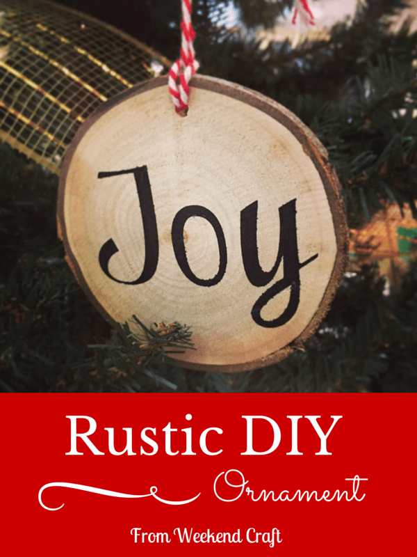 Rustic DIy Ornament by Weekend Craft