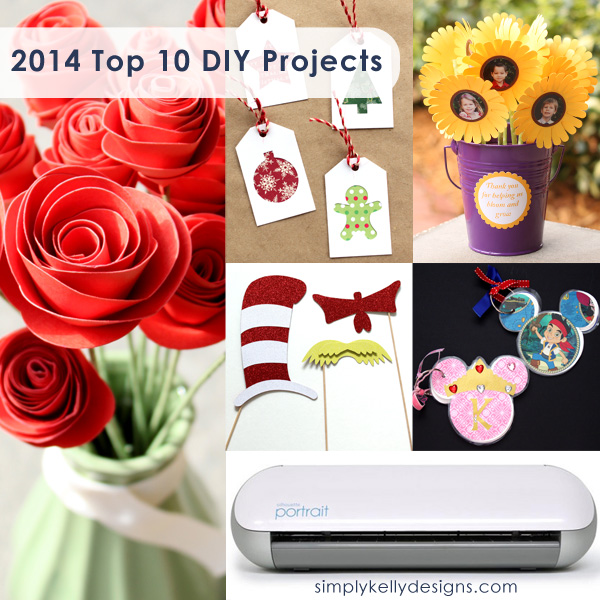 Top DIY Projects of 2014 by Simply Kelly Designs #DIY #roundup #bestof #Silhouette #DrSeuss #paperflowers #Disney #Christmas