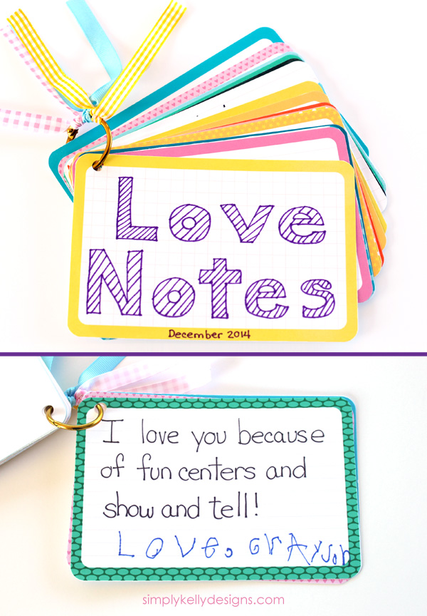 Love Notes for Preschool and Kindergarten Teachers #ProjectLife #teacherappreciation #teachergift #journalingcards