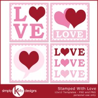 Stamped With Love Digital Scrapbook Templates