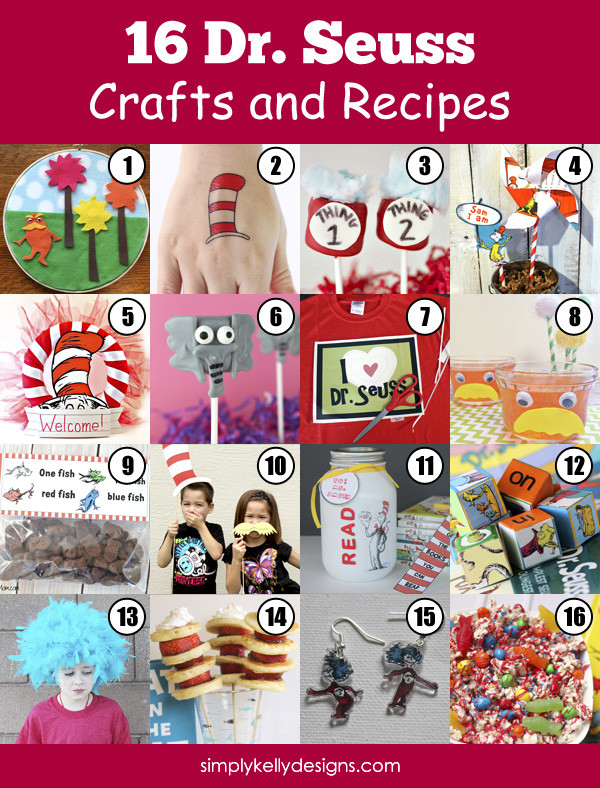 16 Dr. Seuss Crafts and Recipes by Simply Kelly Designs #DrSeuss #CatInTheHat #Lorax #Thing1Thing2