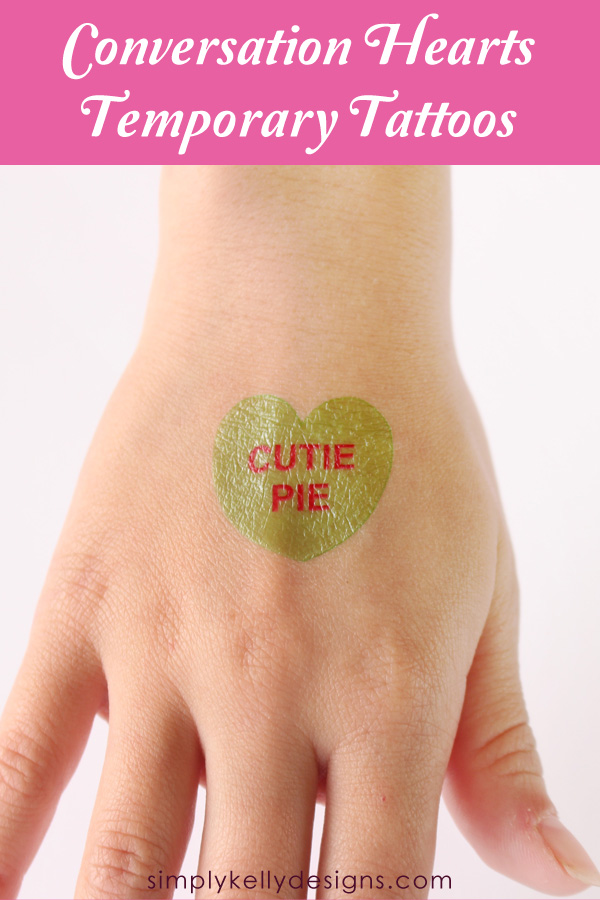 Conversation Hearts Temporary Tattoos by Simply Kelly Designs