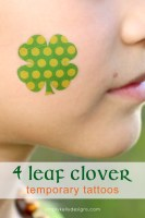 4 Leaf Clover Temporary Tattoos for St. Patrick's Day