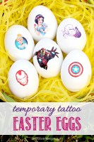 Easy Temporary Tattoo Easter Eggs