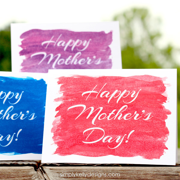 Printable Watercolor Mother's Day cards from Simply Kelly Designs #mothersday #card #printable #watercolor