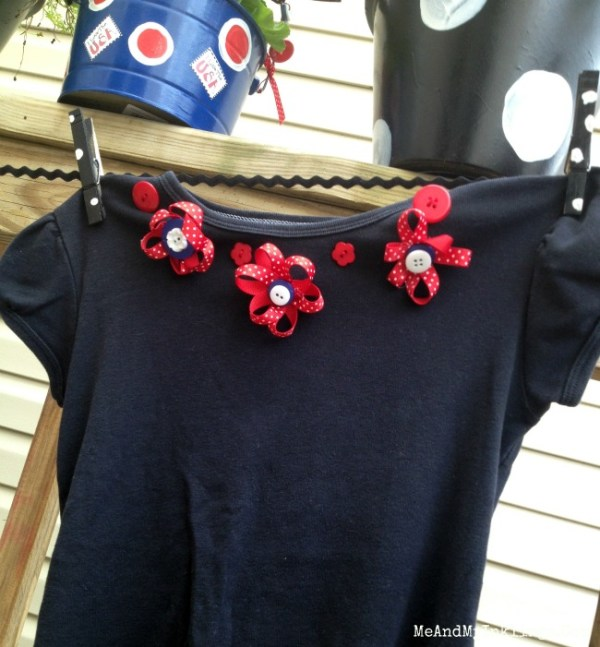 Upcycled Patriotic Flower Shirt by Me and My Inklings