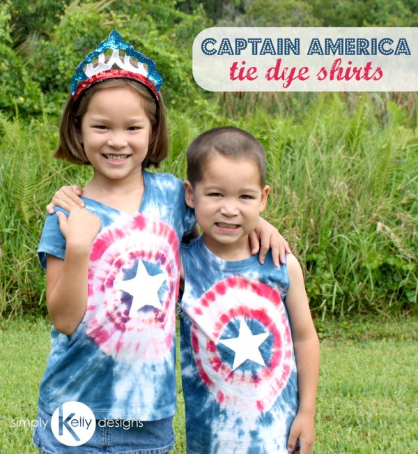 Captain America Tie Dye Shirts by Simply Kelly Designs
