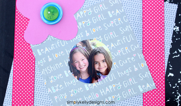 keep the kids writing this summer with an old school notebook to pass back and forth to keep in touch - BFF Summer Notebook by Simply Kelly Designs