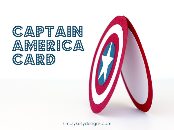 DIY Captain America Card by Simply Kelly Designs