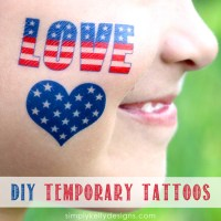 More DIY Patriotic Temporary Tattoos