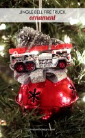 Jingle Bell Fire Truck Ornament