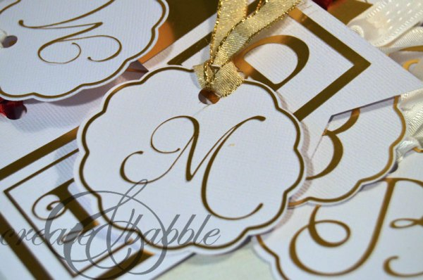 Gold Foil Initial Gift Tags by Create and Babble