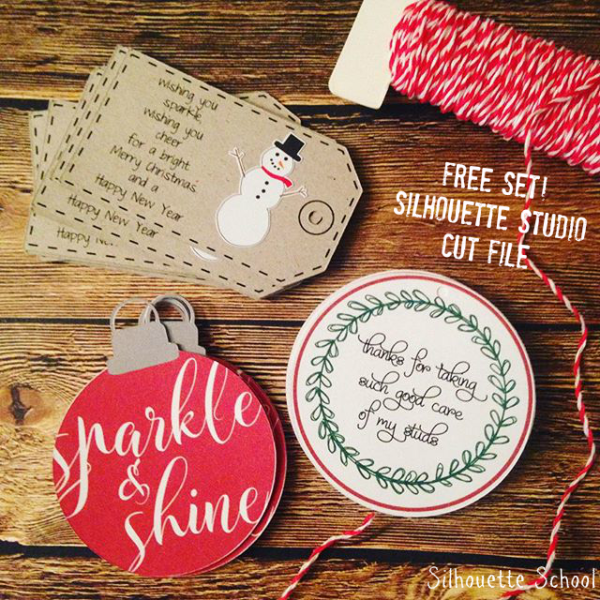 Christmas Gift Tags by Silhouette School