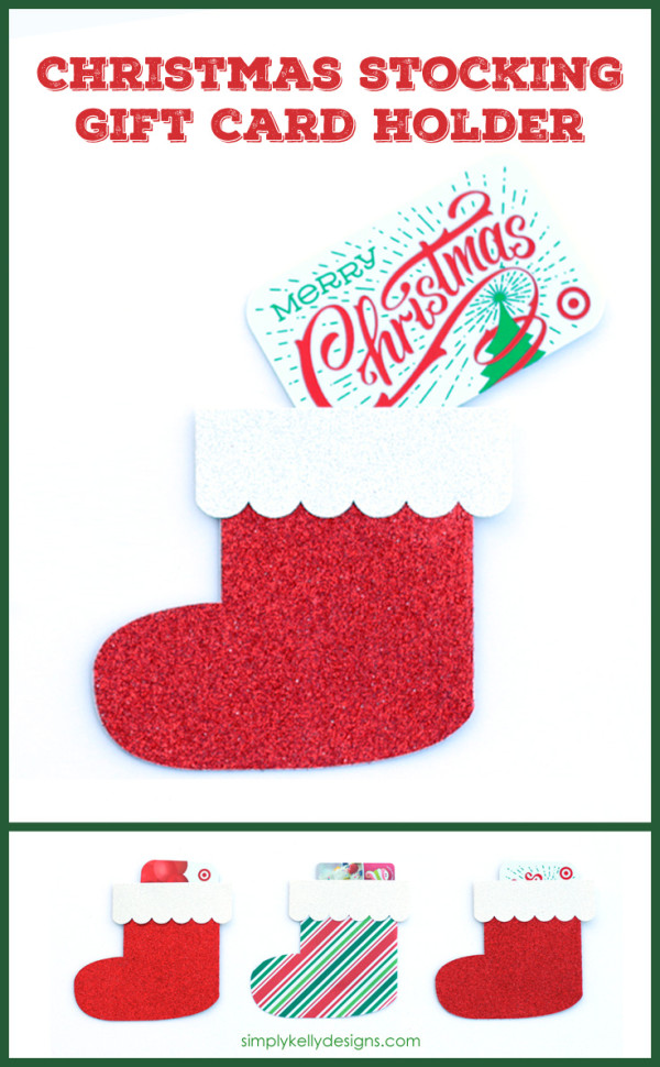 Make this Christmas stocking gift card holder to dress up a gift card. The best part is that the person receiving the gift can re-use it and gift on!