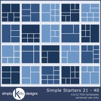 More Simple Starter Digital Scrapbook Templates