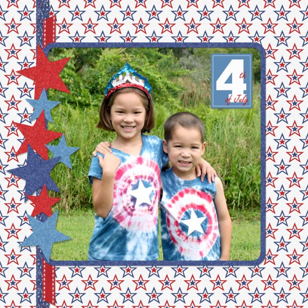 4th of July digital scrapbook kit by Simply Kelly Designs