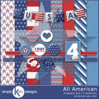 All American Digital Scrapbook Kit