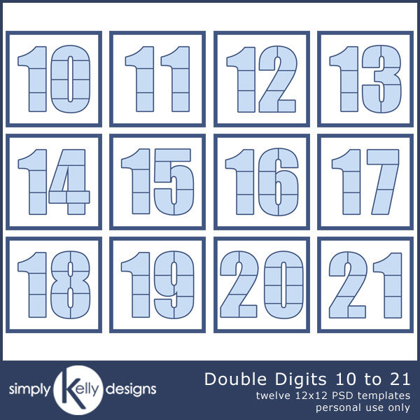 Double Digits 10 to 21 Bundle by Simply Kelly Designs