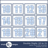 Double Digits Templates