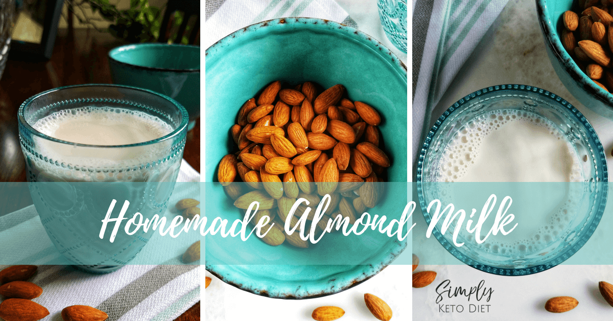Almond Milk Recipe for the Keto Diet - it's low carb and yummy!