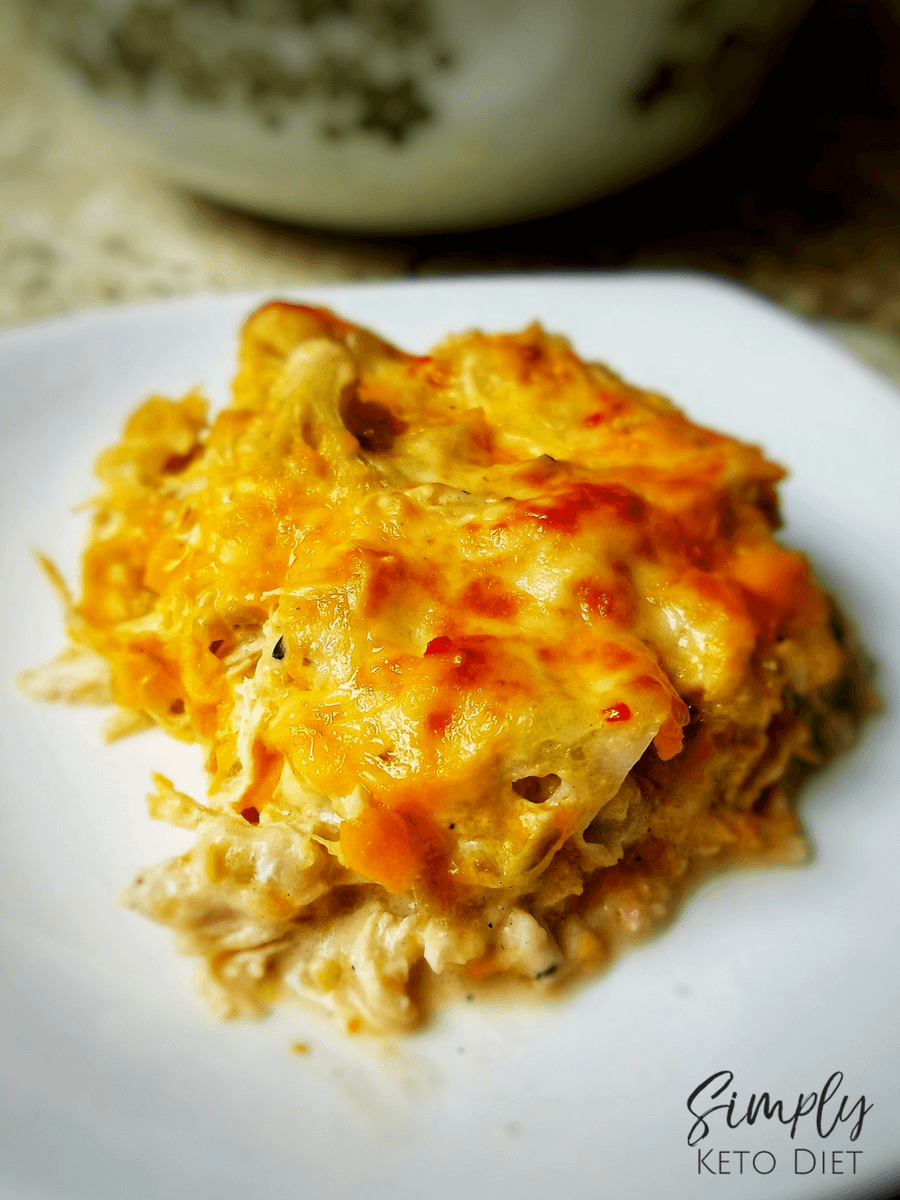 Green Chili Chicken and Cauliflower Enchiladas without carbs!