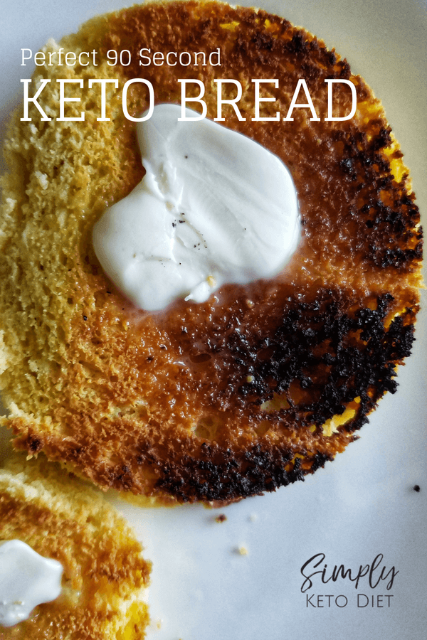The PERFECT 90 Second Keto Bread - the BEST you'll ever taste! YUM