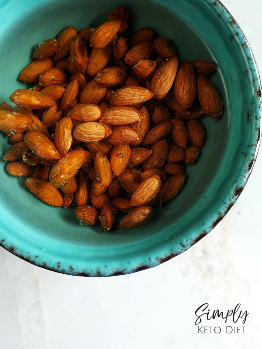 Soak your almonds overnight before making the almond milk recipe
