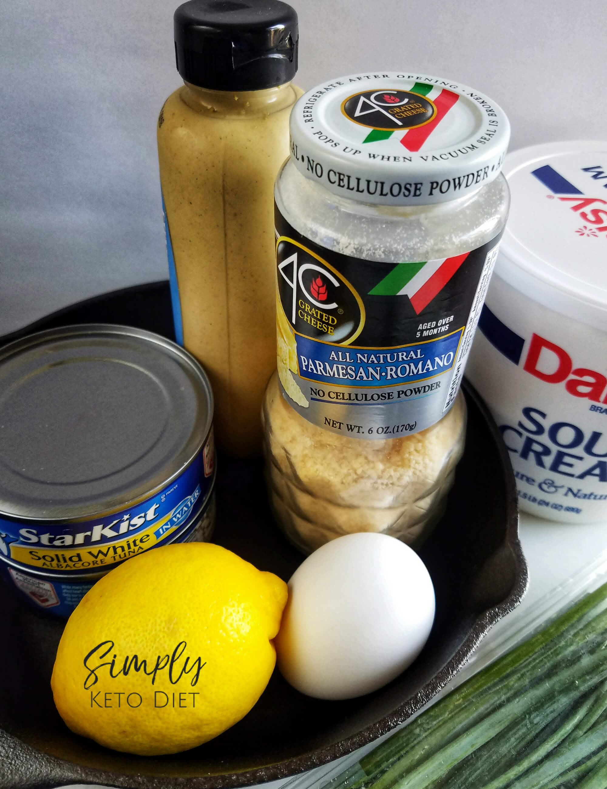 Gather your ingredients for your tuna cake recipe