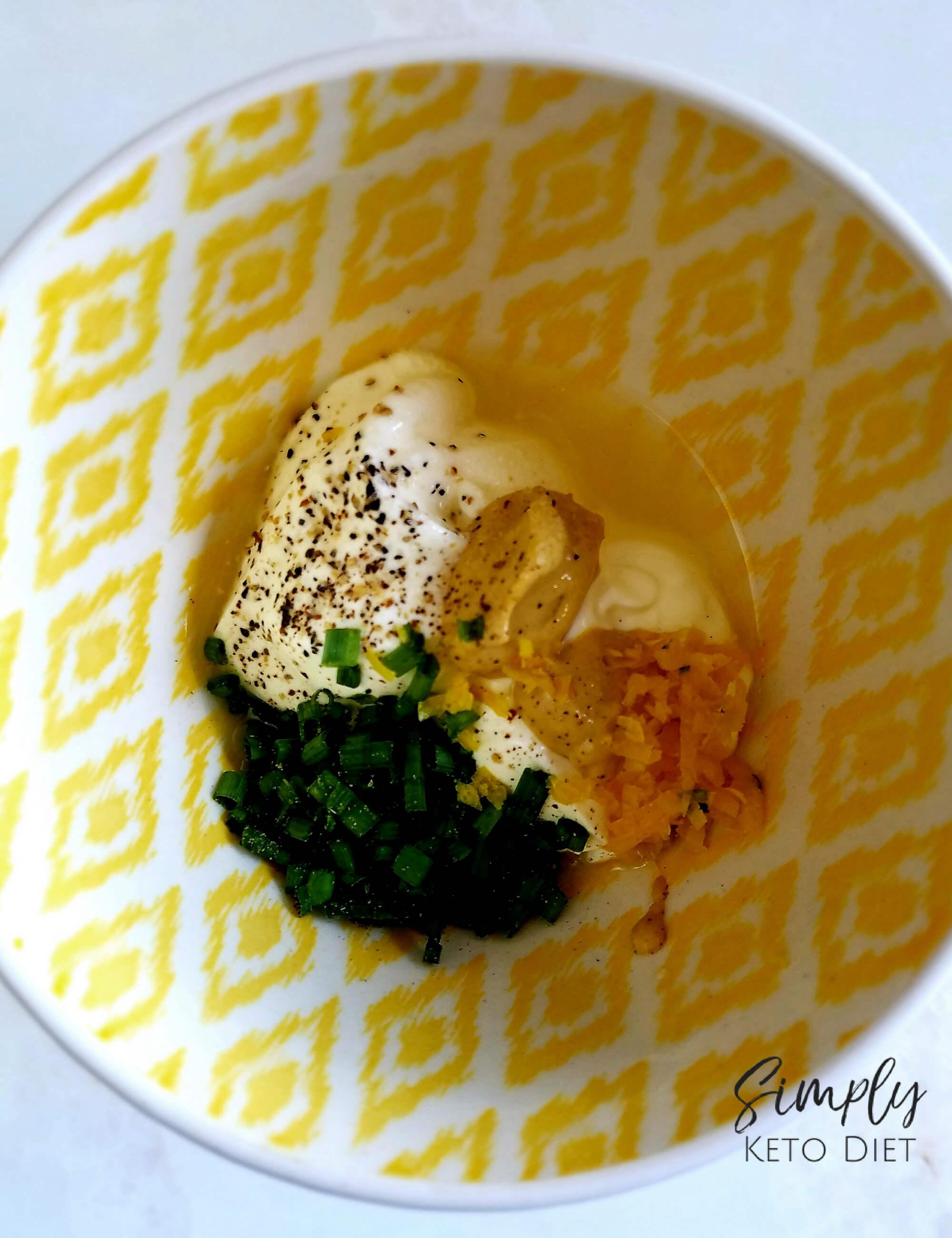 The Lemon Dijon Sauce is the star of this tuna cake recipe!