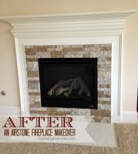 Fireplace Makeover Using Airstone | simplykierste.com