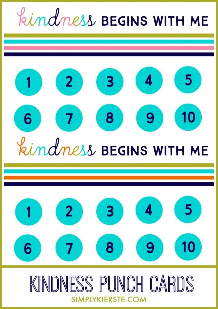 Kindness Punch Card