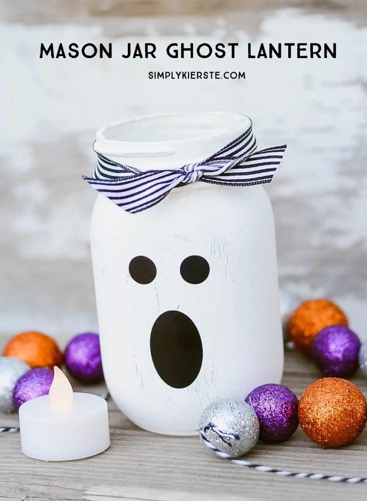 Mason Jar Ghost Lantern, by Simply Kierste Design