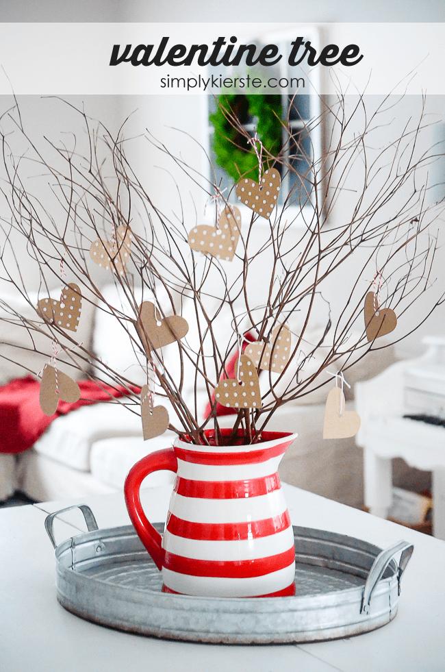 A Valentine Tree Simple Valentines Day Decor Simply