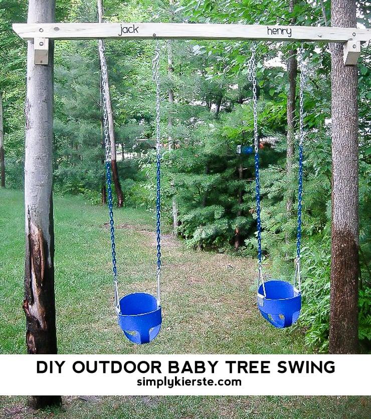 outdoor swing chair bunnings wedding covers swansea diy tree baby swings - simply kierste design co.