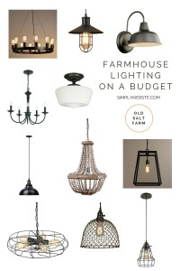 Farmhouse Lighting on a Budget - Simply Kierste Design Co.