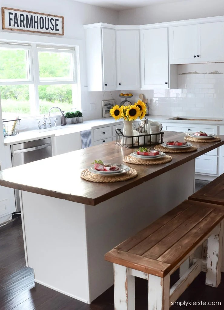 A Sneak Peek Into My Farmhouse Kitchen  Simply Kierste