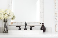 Farmhouse Bathroom + DIY Framed Mirrors - Simply Kierste ...