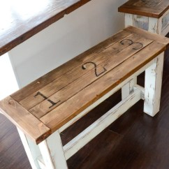 Kitchen Benches Outdoor Kitchens Kits Ana White Featuring Simply Kierste Design Co Not Only Functional But Beautiful Too I Love The Added Detail With Number And Fun Farmhouse Finish These Stools Look Super Sturdy To Boot