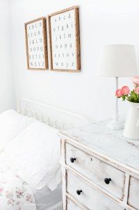 Vintage Style Shabby Chic Girl's Bedroom + Source List