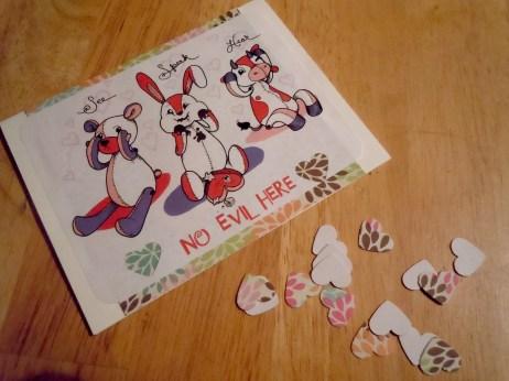 Card and confetti