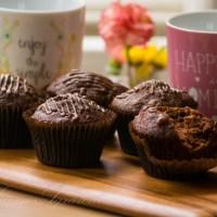 Chocolate, Banana and Walnut Muffins