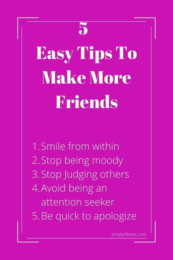 Easy Tips To Make More Friends