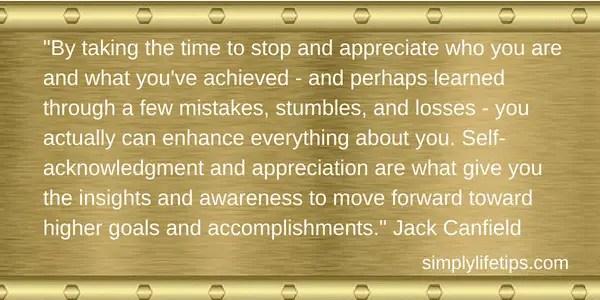 Jack Canfield Quote Appreciate