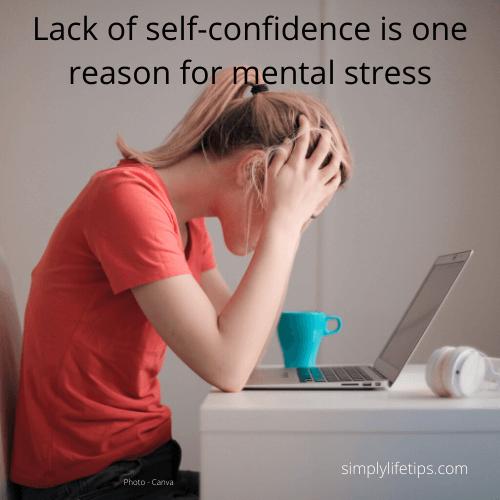 self-confidence mental stress