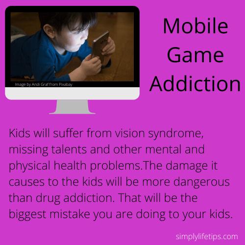 Kids Mobile Game Addiction