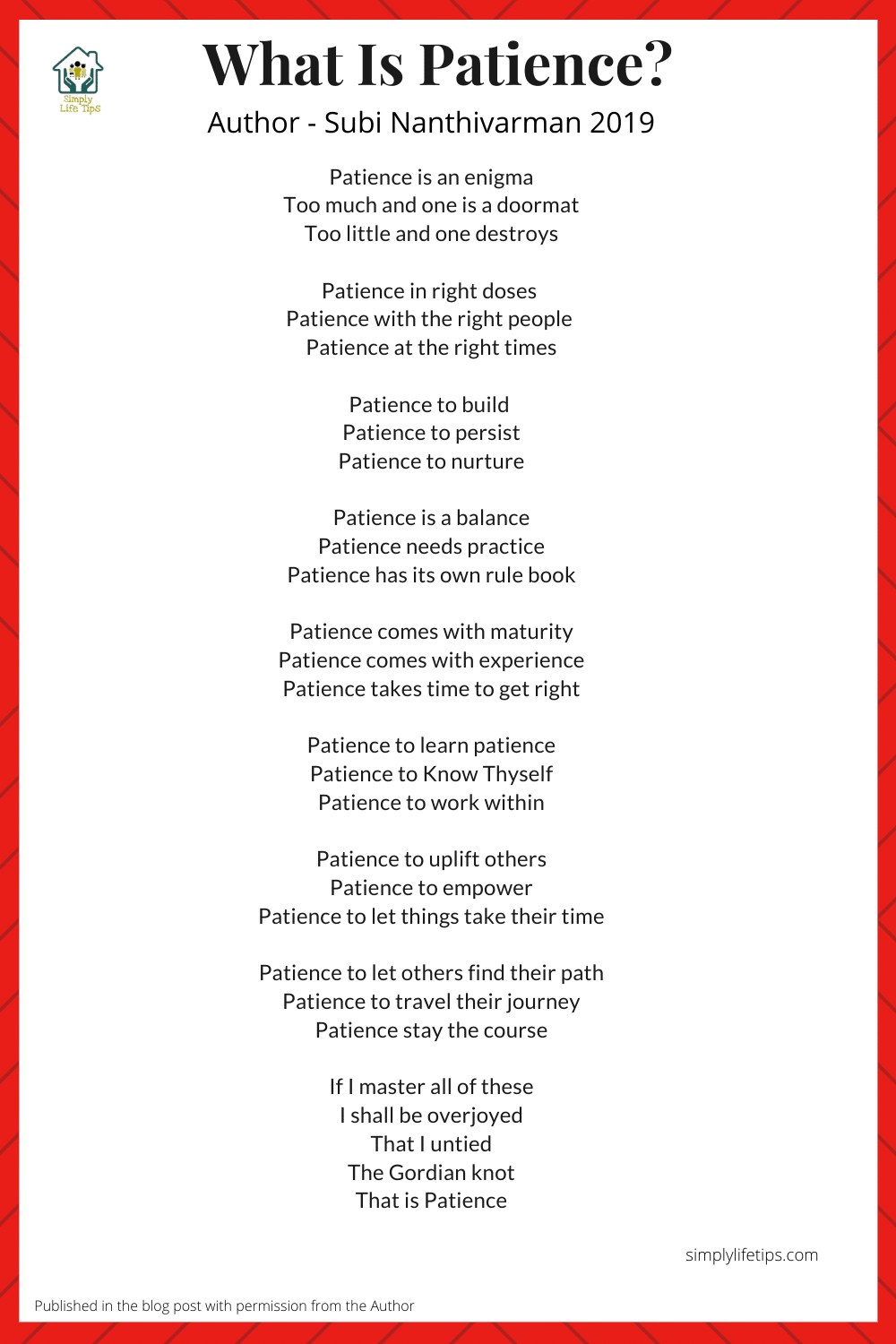 What Is Patience? Poem